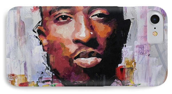 Tupac IPhone Case by Richard Day