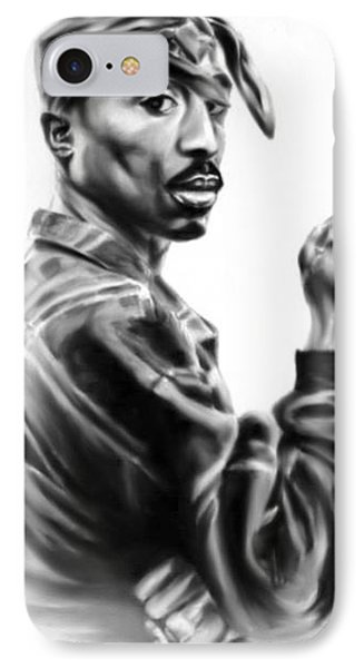 IPhone Case featuring the painting Tupac Shakur by Darryl Matthews