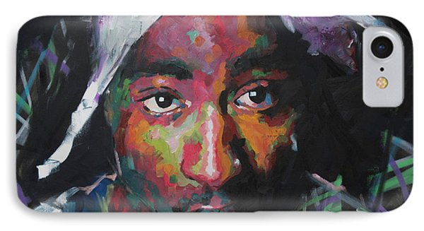 Tupac Shakur IPhone Case by Richard Day