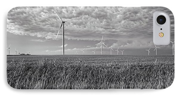 Turbines And Soybeans IPhone Case by Mountain Dreams