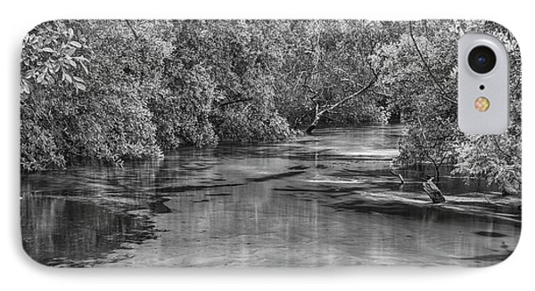 Turkey Creek In Black And White IPhone Case by JC Findley
