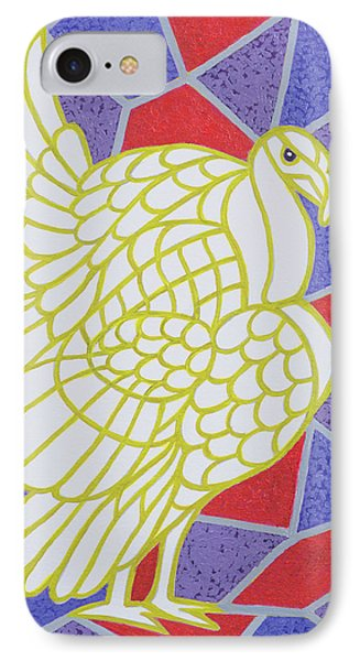 Turkey On Stained Glass IPhone Case by Pat Scott