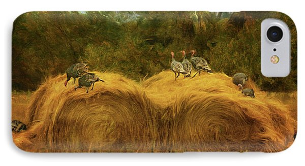 Turkeys In The Straw - 2 IPhone Case
