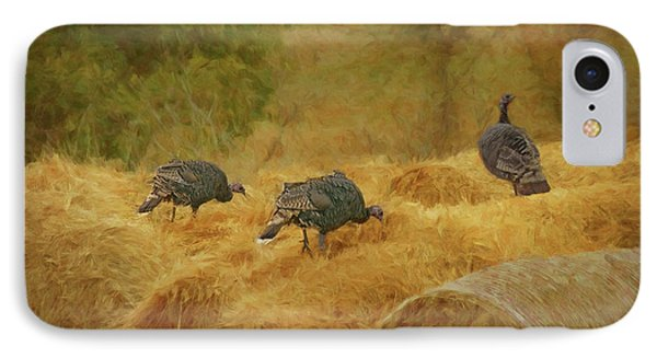Turkeys In The Straw IPhone Case