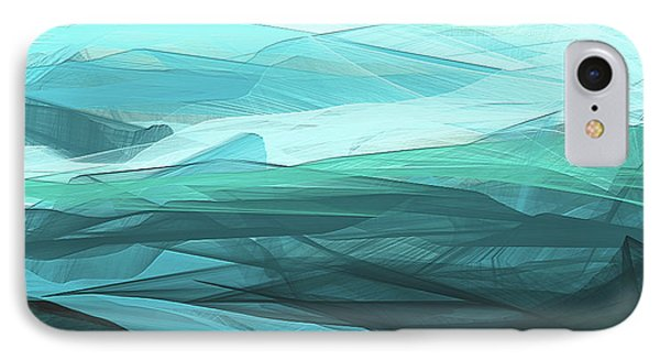 Turquoise And Gray Modern Abstract IPhone Case by Lourry Legarde