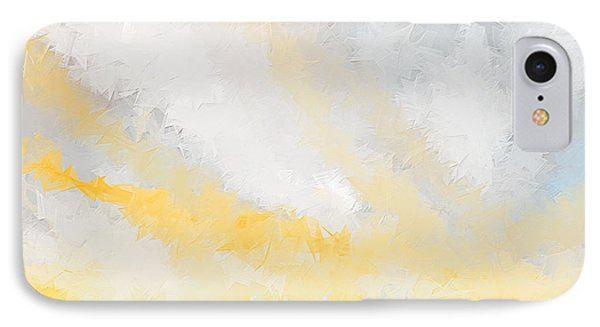 Turquoise And Yellow Art IPhone Case by Lourry Legarde