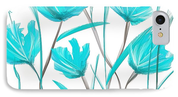 Turquoise Bloom IPhone Case
