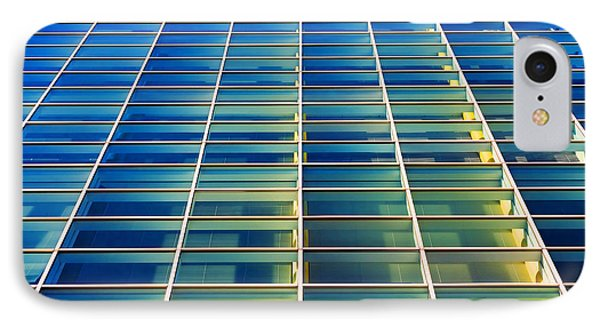 Turquoise Building IPhone Case by Todd Klassy