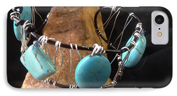 Turquoise Cabochon Bracelet IPhone Case by J Cheyenne Howell