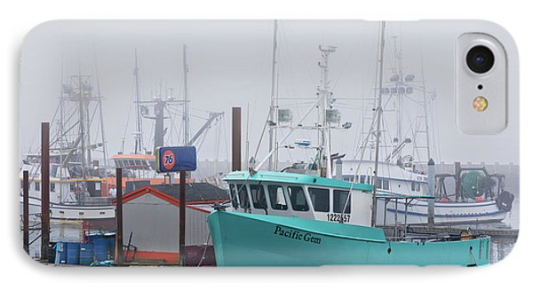 Turquoise Fishing Boat Phone Case by Jerry Fornarotto