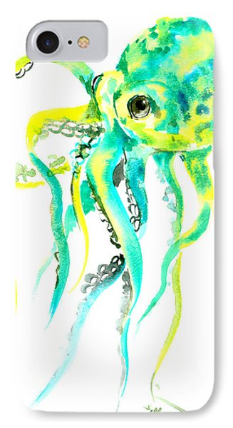 Turquoise Green Octopus IPhone Case