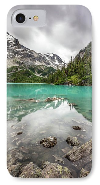 IPhone Case featuring the photograph Turquoise Lake In The Mountains by Pierre Leclerc Photography