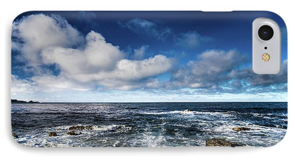 IPhone Case featuring the photograph Turquoise Pacific Ocean Sea Water Rolling Waves And Rock With Bl by Jingjits Photography