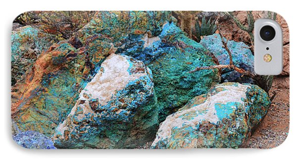 Turquoise Rocks IPhone Case by Donna Greene