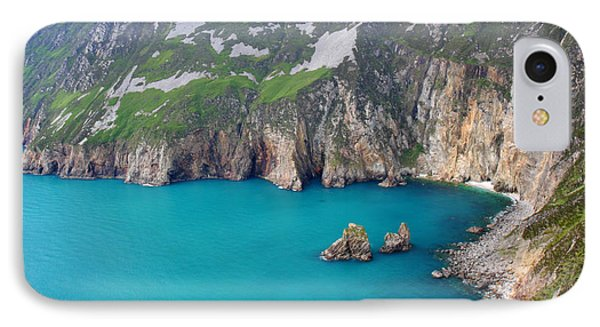 turquoise sea at Slieve League cliffs Ireland Phone Case by Pierre Leclerc Photography