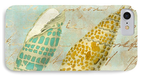 Turquoise Sea Shells IPhone Case by Mindy Sommers
