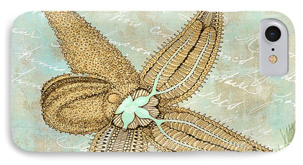 Turquoise Sea Starfish IPhone Case by Mindy Sommers