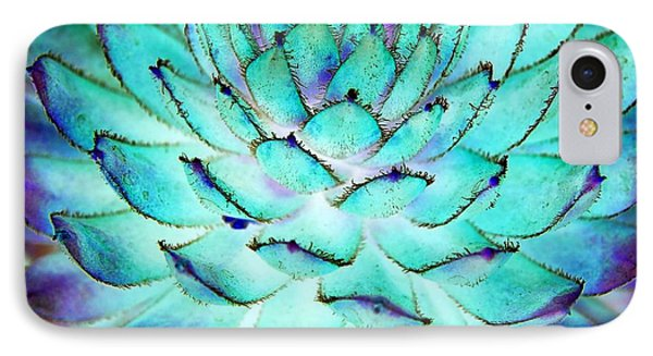 IPhone Case featuring the photograph Turquoise Succulent 1 by Marianne Dow