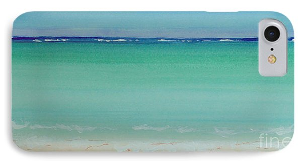 Turquoise Waters Long Abstract IPhone Case by Robyn Saunders