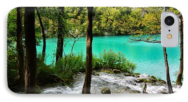 Turquoise Waters Of Milanovac Lake Phone Case by Two Small Potatoes