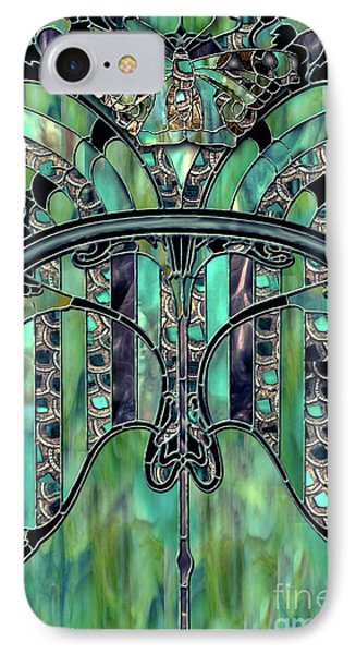 Turquoise Window Jewels IPhone Case by Mindy Sommers