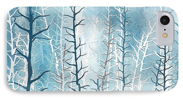 Turquoise Winter IPhone Case by Lourry Legarde
