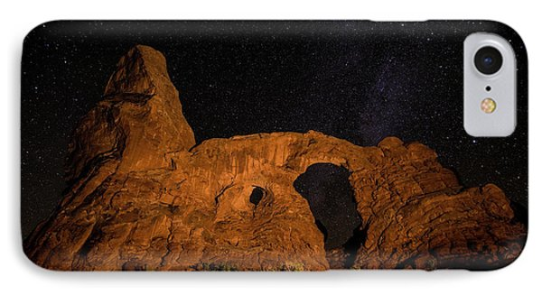 IPhone Case featuring the photograph Turret Arch And The Milky Way - Utah by Gary Whitton