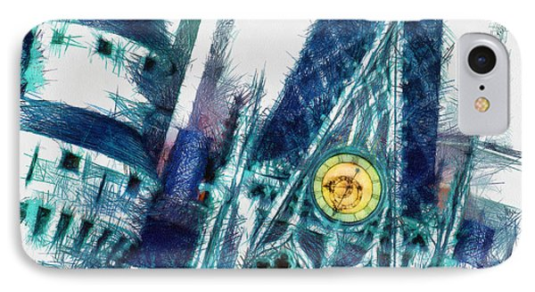 Turrets And Spires Pencil IPhone Case