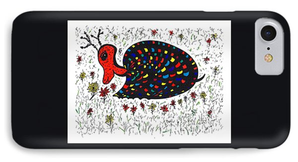 Snurtle Snail Turtle And Flowers IPhone Case by Susan Dimitrakopoulos