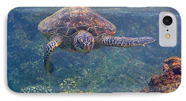 Turtle Approaching Phone Case by Bette Phelan