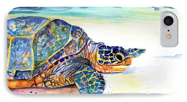Turtle At Poipu Beach 2 IPhone Case by Marionette Taboniar