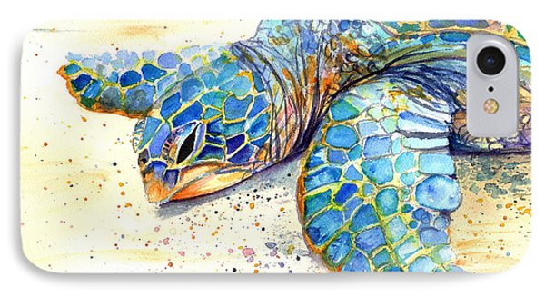 Turtle At Poipu Beach 4 IPhone Case by Marionette Taboniar