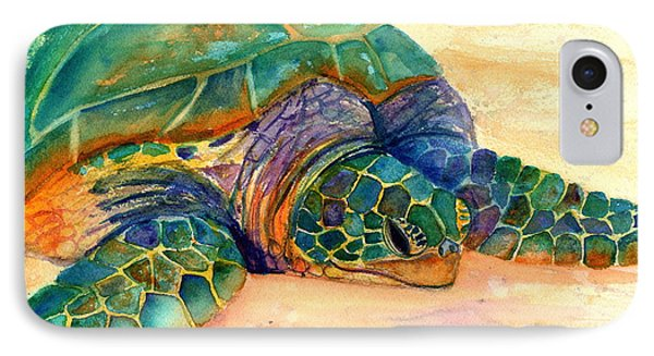 Turtle At Poipu Beach 7 IPhone Case by Marionette Taboniar