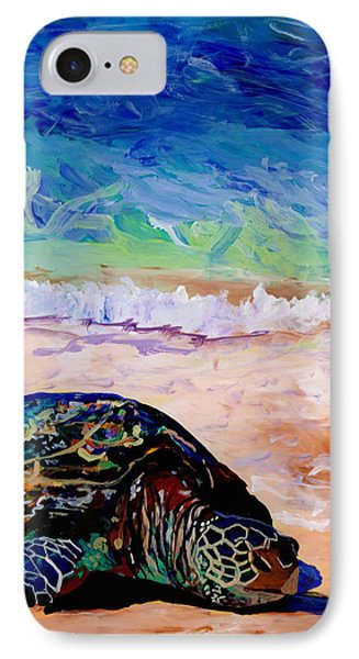 Turtle At Poipu Beach 9 IPhone Case by Marionette Taboniar