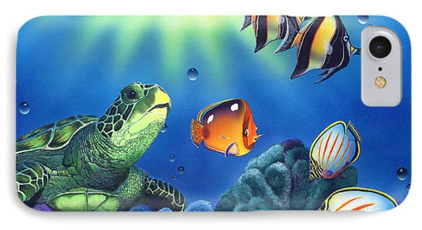 Turtle Dreams Phone Case by Angie Hamlin