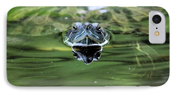 Turtle Head Phone Case by Karol Livote