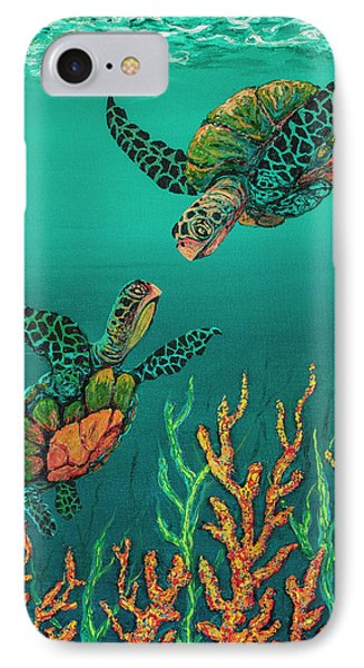 IPhone Case featuring the painting Turtle Love by Darice Machel McGuire