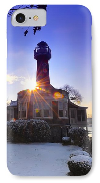 Turtle Rock Light House At Sunrise Phone Case by Bill Cannon