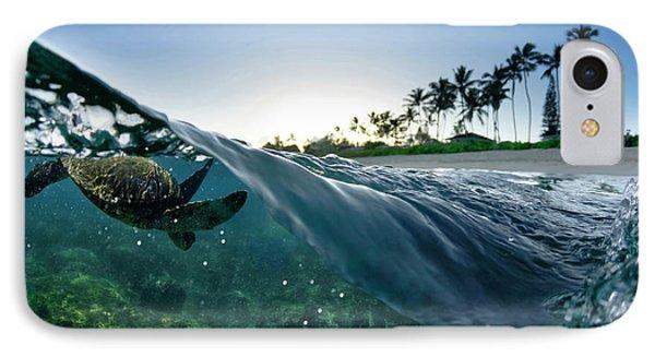 Turtle Split IPhone Case by Sean Davey