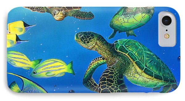Turtle Towne Phone Case by Angie Hamlin