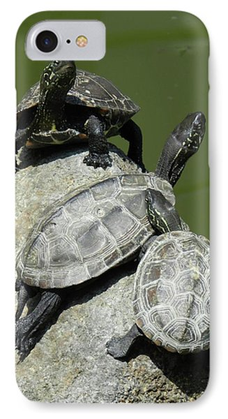 Turtles At A Temple In Narita, Japan IPhone Case by Breck Bartholomew