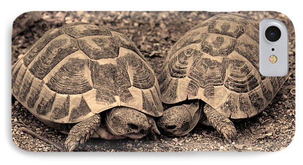 Turtles Pair IPhone Case by Gina Dsgn
