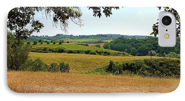IPhone Case featuring the photograph Tuscan Country by Valentino Visentini