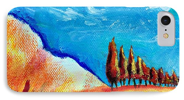 Tuscan Cypress IPhone Case by Elizabeth Fontaine-Barr