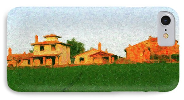 Tuscan Farmhouse IPhone Case by Rob Tullis