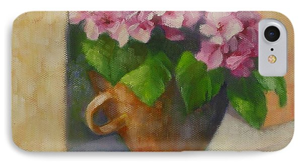 IPhone Case featuring the painting Tuscan Flower Pot Oil Painting by Chris Hobel