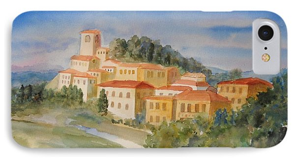 Tuscan Hilltop Village Phone Case by Marilyn Young