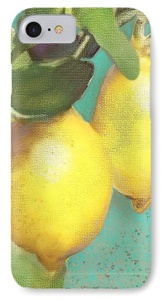 Tuscan Lemon Tree - Citrus Limonum Damask IPhone Case by Audrey Jeanne Roberts