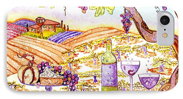 Tuscan Living In Style Phone Case by Connie Valasco