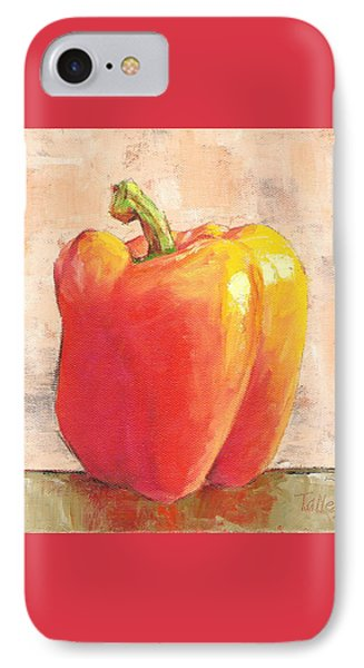 Tuscan Orange Pepper IPhone Case by Pam Talley